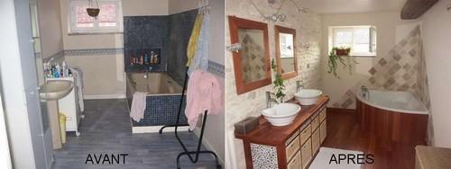 la salle de bain avant et apr s la maison des nugues. Black Bedroom Furniture Sets. Home Design Ideas